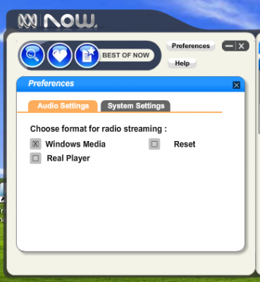 ABC Now Streaming Settings