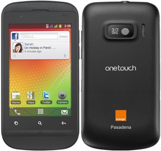 Orange Pasadena Alcatel OneTouch 918 Orange Pasadena Review