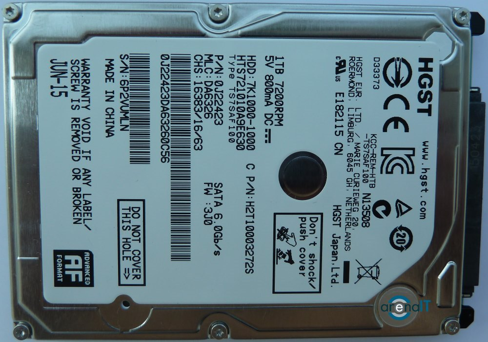 Review HDD HGST Travelstar 7K1000