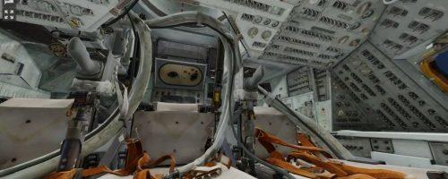Acum poti cerceta o copie 3D a capsulei Apollo 11