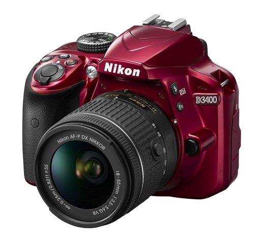 Nikon-D3400-DSLR-camera-red