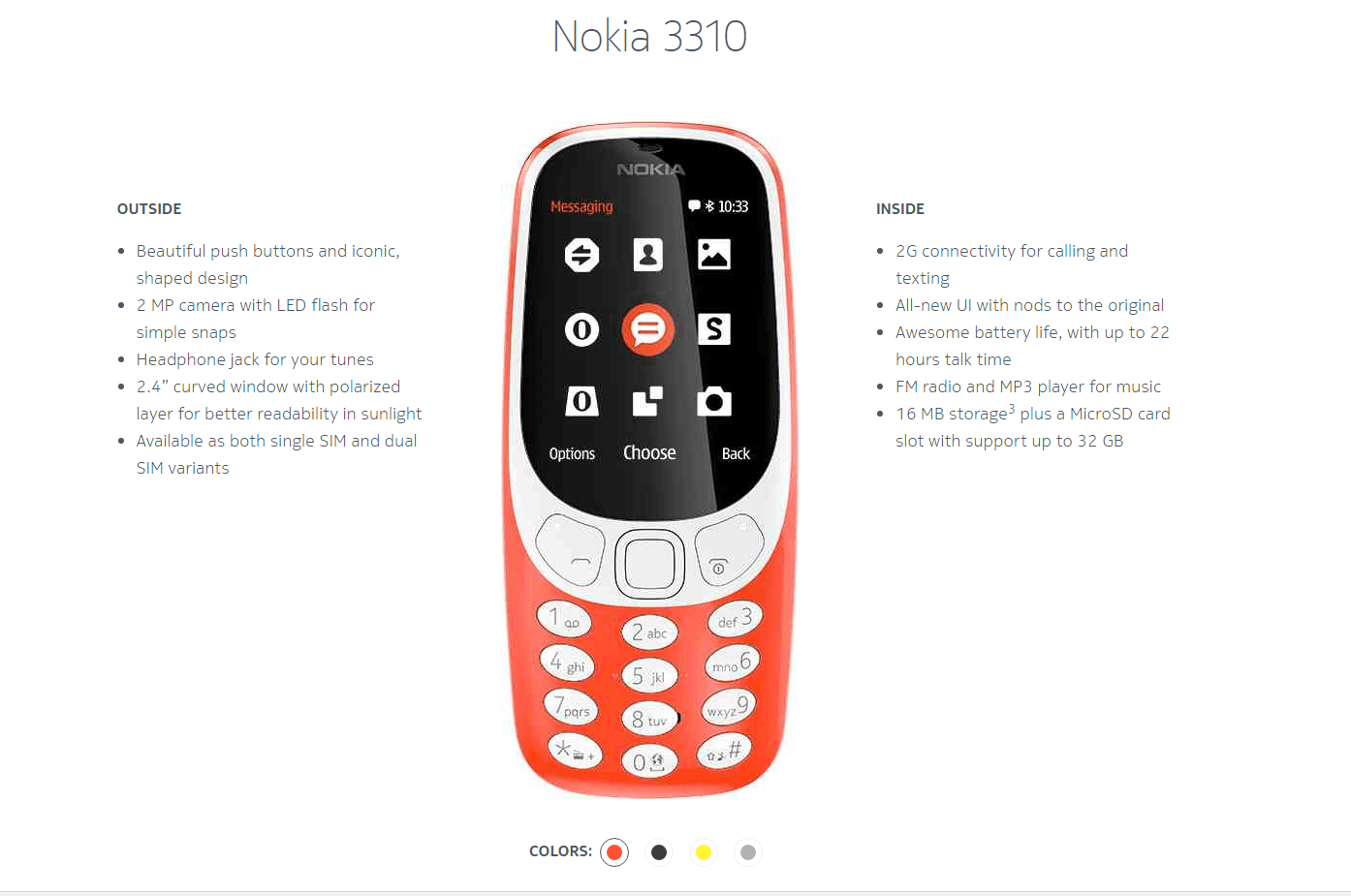Nokia 3310 nou