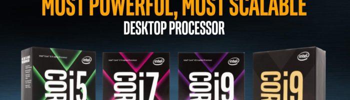 Intel Core i9 – 18 core-uri si 36 thread-uri pentru gameri la 2000 de dolari