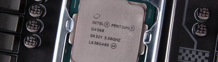Intel limitează producția de procesoare Pentium G4560