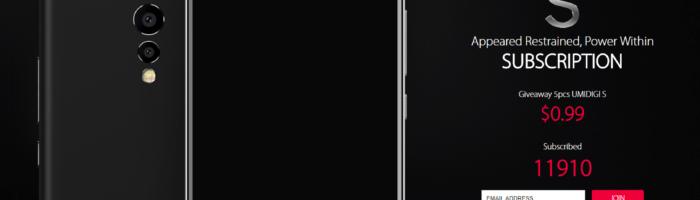 UMIDIGI dezvăluie primul telefon din gama S-Class (P)
