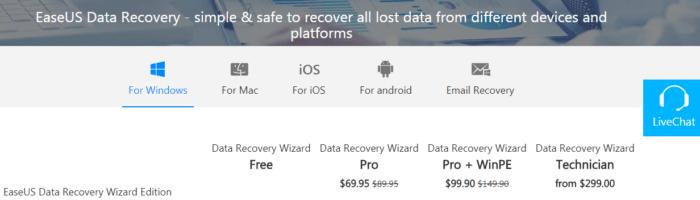 EaseUS Data Recovery – soft prin care iti poti recupera fisierele sterse
