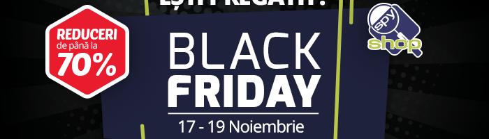 Reduceri bune la Spy-Shop Black Friday 2017 (sisteme de supraveghere si alarma)