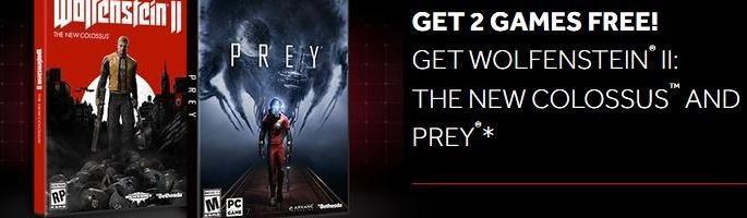 AMD oferă gratuit Wolfenstein II: The New Colossus și Prey la achiziția unei plăci video RX Vega