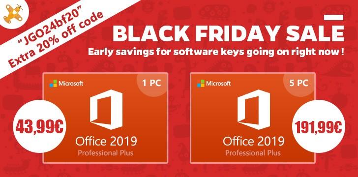 Black Friday cu licente Windows 10 si Office 2016 Pro